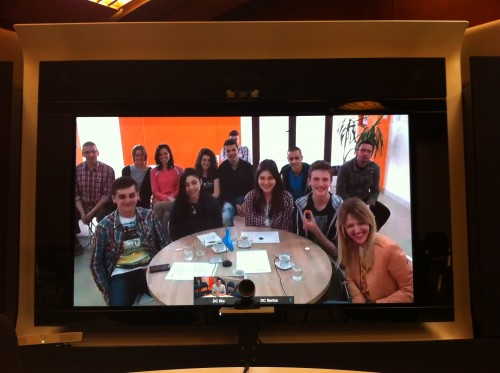 Our colleagues from DC Novi Pazar smiling during our session on happiness, 28 April 2015